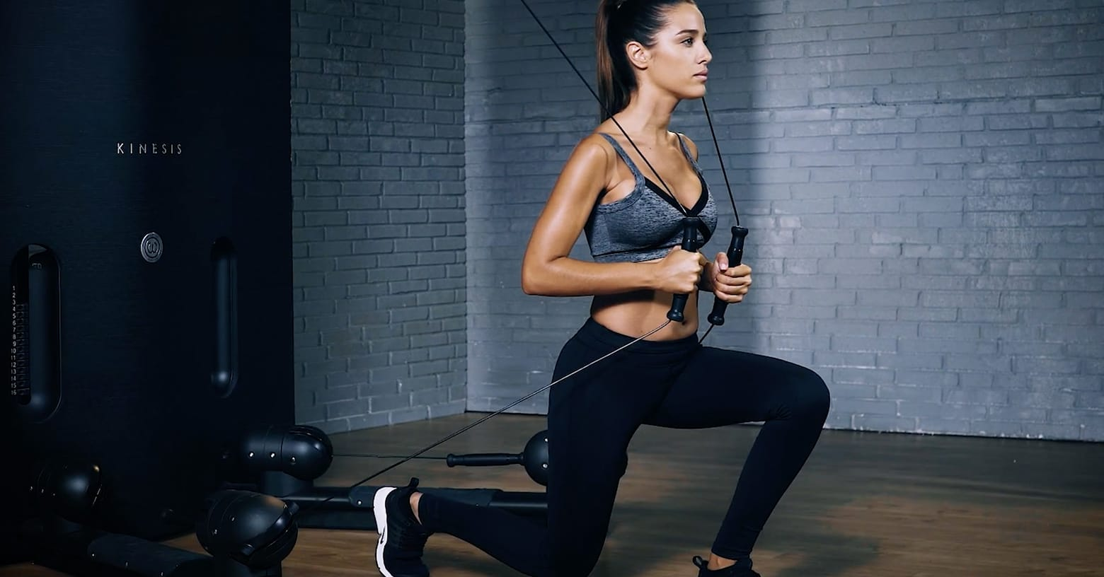 Kinesis lunge - Kinesis Ausfallschritt - Fente kinesis - EVO Fitness