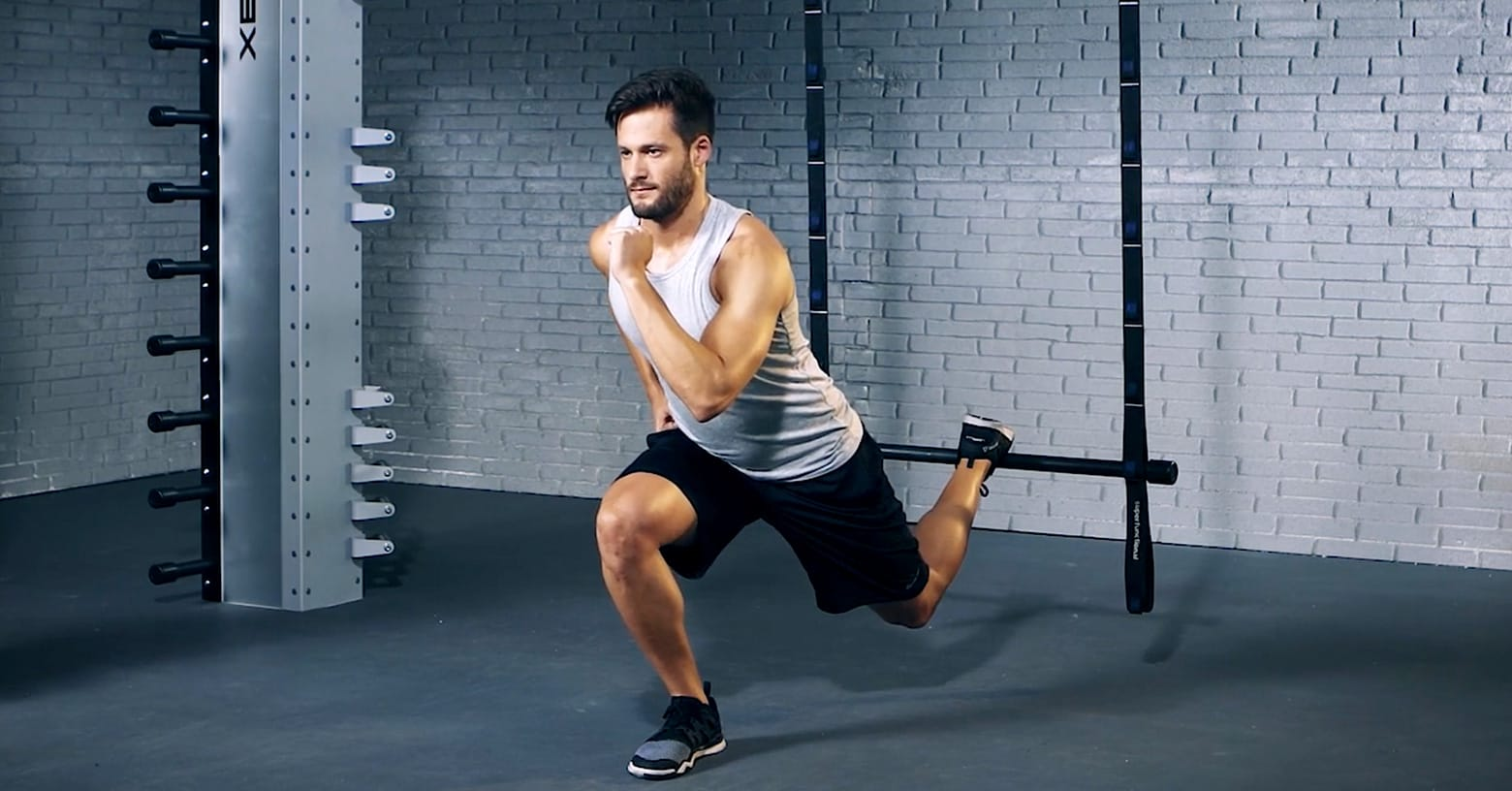 suspended lunge - Fente suspendue - Suspended Lunge - EVO Fitness