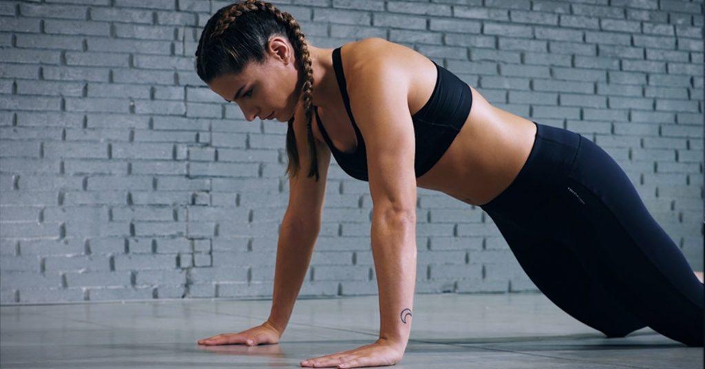 push-up on knees - pompes sur les genoux - Liegestütze auf Knien - evofitness