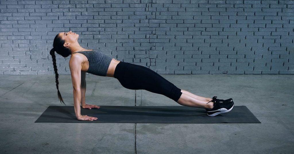 Reverse plank | Planche inversée |