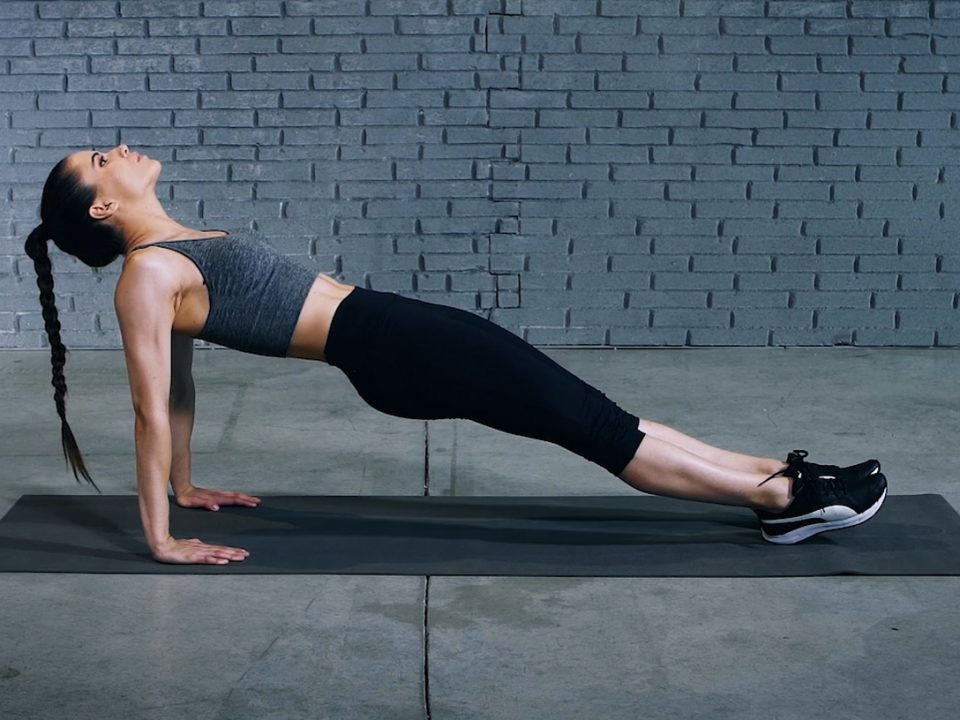 Reverse plank |