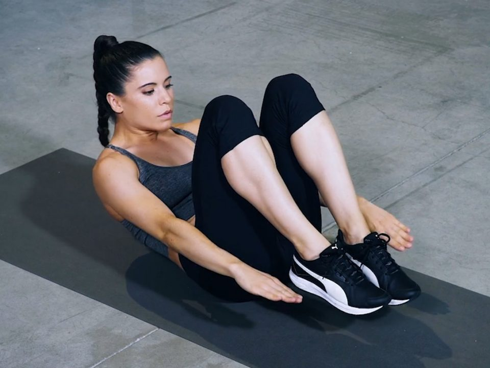 abdominal row -