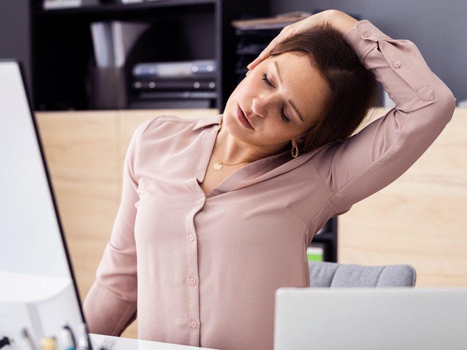 Nackenschmerzen - douleurs au cou - neck pain - EVO Fitness