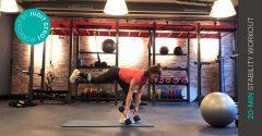 Entraînement de la semaine : entraînement de stabilité de 20 minutes
