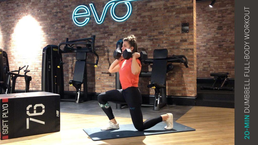 Ganzkoerper dumbbell workout   entraînement complet du corps avec haltères   full-body dumbbell workout