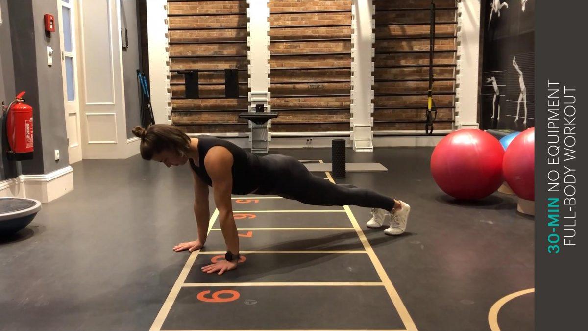 Full-body Workout ohne Equipment | entraînement complet du corps sans équipement | no equipment full-body workout